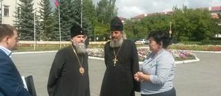 Рабочий визит митрополита Уфимского и Стерлитамакского Никона в г. Учалы